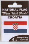 Croatia Country Flag Tattoos.